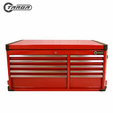 "TARGA 43"" Tool Box MECHANICS TOOL CHEST 10 Drawer Top Cabinet RED"