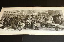 Hall Broadway Trolley and Market OYSTERS HEMBOLDS CORN WINE CLAMS 1873 Lrg Print