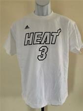 New Minor Flaw Miami Heat #3 Dwyane Wade Youth Sizes M-XL White Adidas Shirt