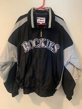 Colorado Rockies MLB Majestic Zip Up Jacket w Fleece Lining Mens Size XL
