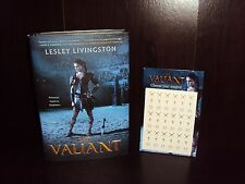 The Valiant by Lesley Livingston~2017 Hardcover First Edition 1st/1st SIGNED