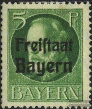 Bayern 153A postfrisch 1919 König Ludwig mit Aufdruck