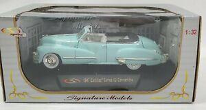 Signature Models 1947 Lt Blue Cadillac Convertible Series 62 1:23 Diecast Rare