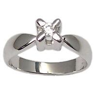 Anello per fidanzamento solitario in oro bianco 18 kt. con diamante naturale