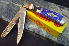 Kissing Crane Blues Trapper Blue Limited Edition Folding 2 Blade Pocket Knife
