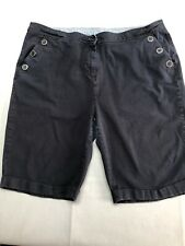 Maine Debenhams Shorts Size 20 Navy Blue With Stretch Knee Length Button Pockets