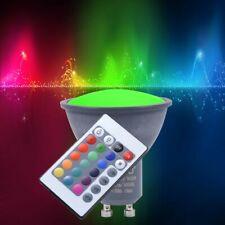 RGB LED GU10 3 Watt Energie Spar Leuchtmittel Farbwechsler Fernbedienung EEK A+