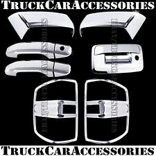 For CHEVY SILVERAD+HD 2014 2015 2016 Chrome Covers Mirrors+Doors+Lights+Tailgate