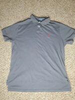 Polo Ralph Lauren Solid Gray Polo Shirt Size L Custom Fit Logo