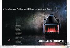Publicité advertising 1988 (2 pages) Les Cheminées Philippe