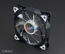 AKASA Vegas 120 MM 12 CM Blanc 15 x DEL Ultra Quiet PC Case Fan, 41.9 CFM, 3 broches