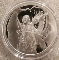 Amy Brown collection 1 oz .999 silver Proof Dragon Secrets beautiful artwork 6th