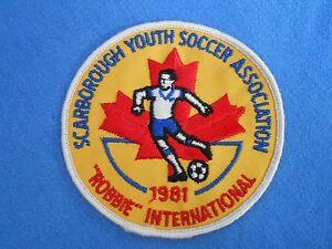 Vtg Canadian Scarborough Youth SOCCER Association Patch 1981 Maple Leaf Futbol