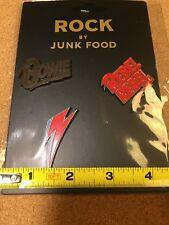 Rock by Junk Food- David Bowie Enamel Pins Set Rock n Roll Legend NIP