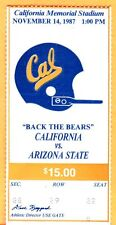 11/14/87 CAL VS. ARIZONA STATE FOOTBALL TICKET STUB