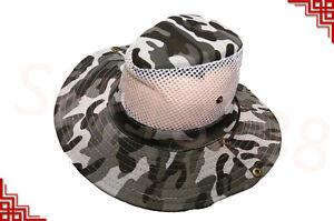 Men's Cool Outdoor Fishing Hiking Outback Safari Vented Sun Hat  Cap Wide Brim