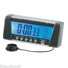 86322  Seyio K-9 - 12/24V, orologio multifunzione con termometro, e memoria temp