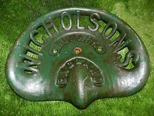 HEAVY NICHOLSONS NEWARK ENGLAND  VINTAGE CAST IRON TRACTOR IMPLEMENT SEAT