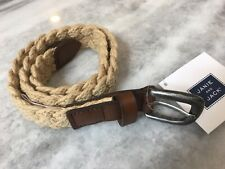 Janie and Jack Boys Kids Beige Braided Belt Size 2T-3T NEW!! Toddler
