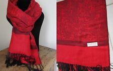 1d0d56685087a Echarpe Homme Noir/gris Motifs Géométrique 70 Cachemire 30 laine 53 x 188 cm
