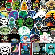 50Pcs Space Alien UFO Astronaut Planet Stickers Skateboard Laptop Luggage Decals