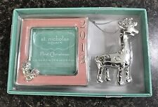 New St. Nicholas Square 2013 Pink First Christmas Picture Frame Gift Set NIB