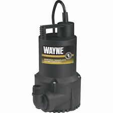 Wayne 1/6-HP 120V 3,000-GPH Oil-Free Continuous-Duty Utility Pump RUP160