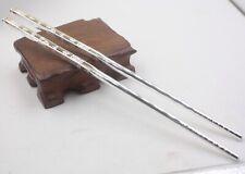 Solid 999 Sterling Silver Chopsticks Health Bless Word Chopsticks Pure Silver