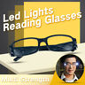 Multi Strength Reading Glasses Eyeglass Spectacle Diopter Magnifier LED Light 1X