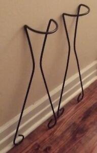 Vintage Iron Hair Pin Legs Mid Century Modern Scrolled Table Planter Legs