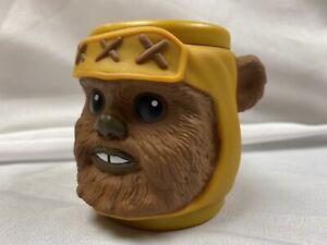 "EWOK mug cup Star Wars Return of the Jedi Mug Plastic 3.5"" New Applause 1997"