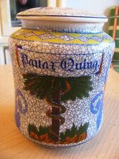 Groovy Vintage Moroccan herb Panae Quing ceramic Tobacco Stash Apothecary jar