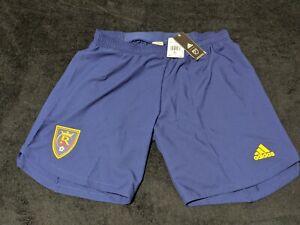 NWT Adidas AeroReady Real Salt Lake Blue Shorts RSL Size XL EH6190