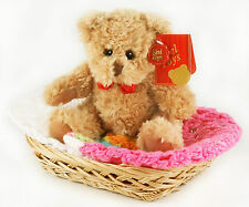 BABY HATS & TEDDY BEAR GIFT SET  (age 9-18mths). New & shrink wrapped.