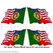 USA United States America-PORTUGAL Portuguese Flying Flag 50mm Sticker Decal x4
