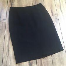 Women's feminine black knee length lined skirt by Kate Hill plus sz 2p