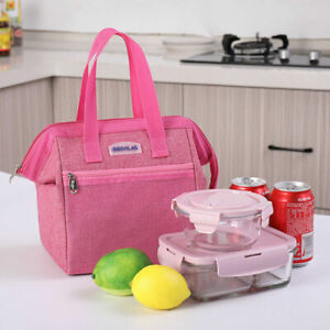 Thermal Insulated Lunch Box Portable Cooler Handbag Bento Pouch Food Storage Bag