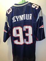 Beautiful Vivid R. Seymour #93 New England Patriots Reebok NFL Jersey Size L