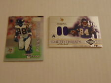 RANDY MOSS Rookie Card 2004 Leaf Limited Threads Game Worn Jersey S#D 01 / 35