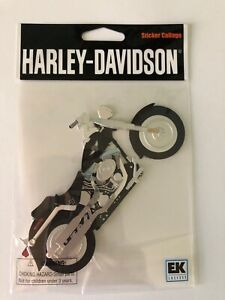 Harley-Davidson Motorcycle 3D Sticker and Pink Clothing Scrapbooking Stickers