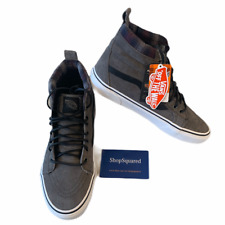 VANS SK8-HI (MTE) ALL WEATHER PEWTER PLAID GREY GRAY SKATE SHOES MEN SZ 9.5 NEW⚡