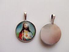 1pz charm ciondolo  sacro cuore di Gesù   25X6mm colore argento tibet