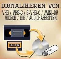 Digitalisieren von 10 Videokassetten (VHS / MiniDV / Video8 / Hi8 / VHS-C)