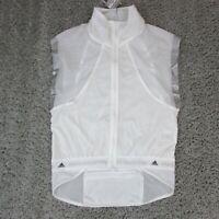 Adidas Stella McCartney Adizero Gilet Vest White Windbreaker Sz Small $225