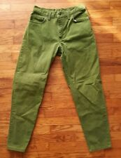 Vintage Levis Green Denim Jeans Women's Size 11 USA Made