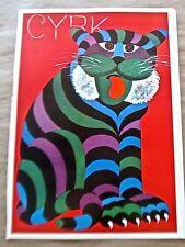 Hubert Hilscher Cyrk Poster of Tiger 1978-A Vintage Poster Reprint 16x11 pp