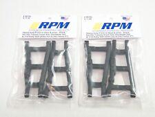 NUOVO RPM Braccio Anteriore E POSTERIORE SET NERO 80702 X2 Traxxas Slash 4x4