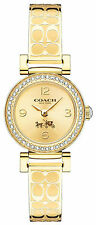 Coach 14502202 Signature Gold Dial Gold Plated Stainless Steel Women's Watch