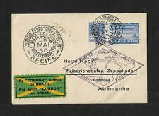 ZEPPELIN BRAZIL TO GERMANY AIR MAIL COVER 1930