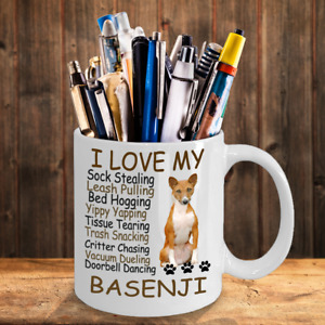 Basenji dog,African Bush Dog,African Barkless,Ango Angari,Congo Dog,Cup,Mugs